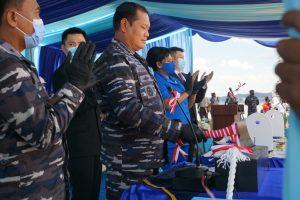 Foto Kasal dan pejabat utama Lantamal IV saat acara peresmian Kapal 873